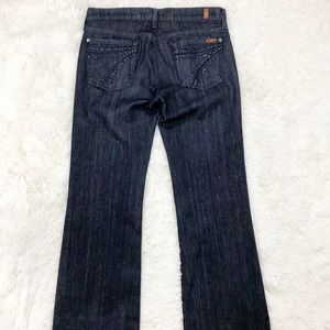 7 For All Mankind Jeans - 7 For All Mankind 7FAMK Dojo Dark Jeans  Size 29